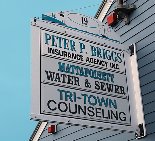 image of Peter P. Briggs Insurance sign